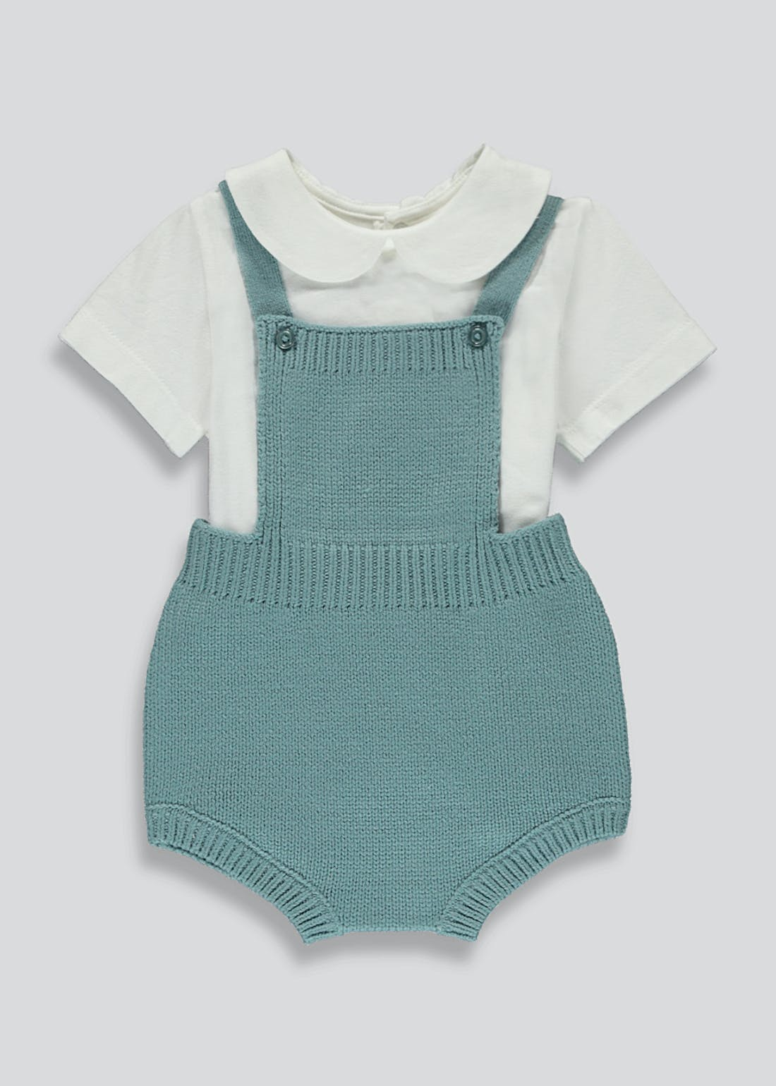 Boys Knitted Romper Set (Tiny Baby-23mths)