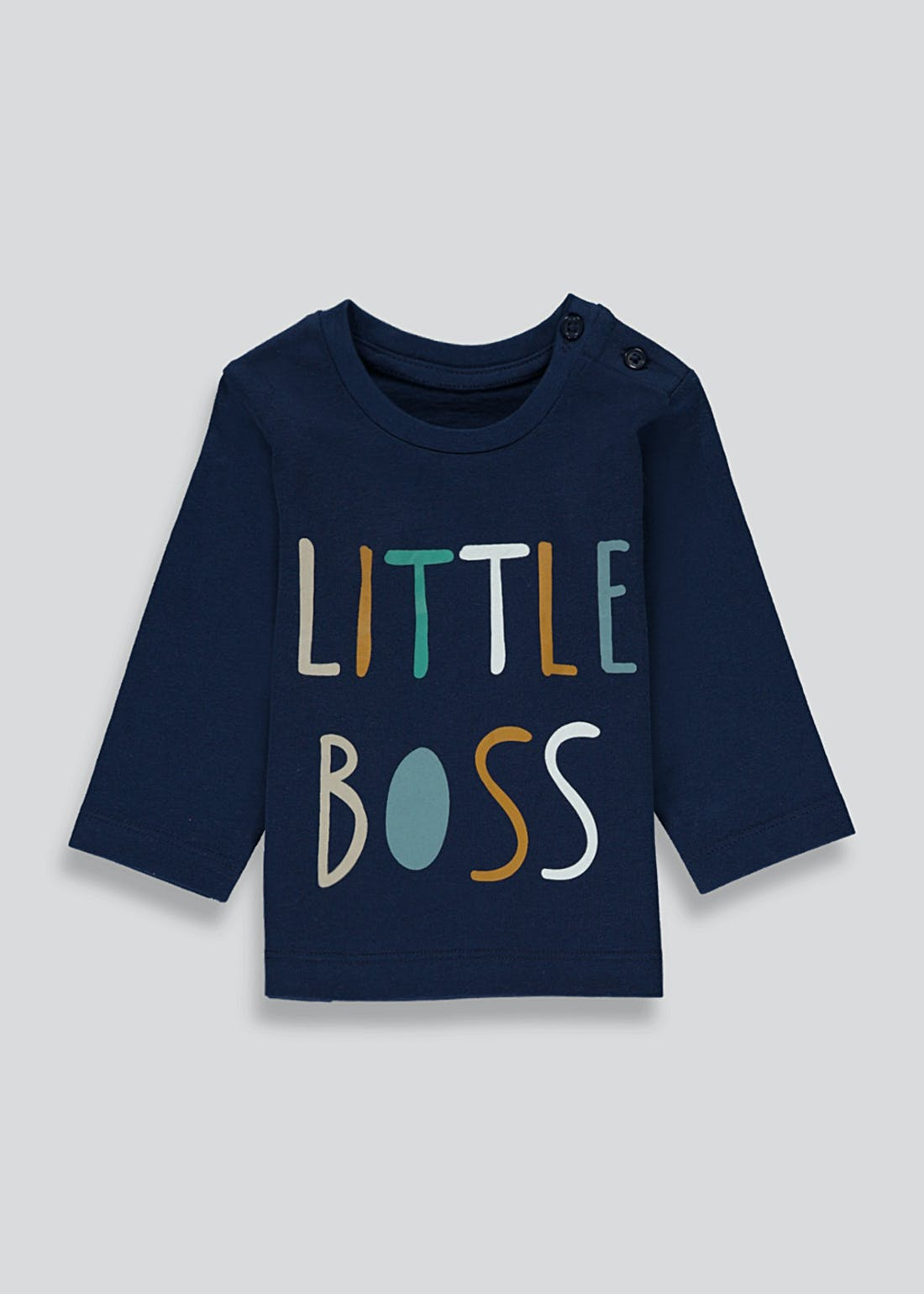 Unisex Long Sleeve Little Boss T-Shirt (Newborn-23mths)