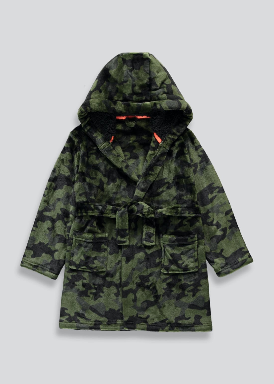 Boys Camo Print Robe Dressing Gown (4-13yrs)