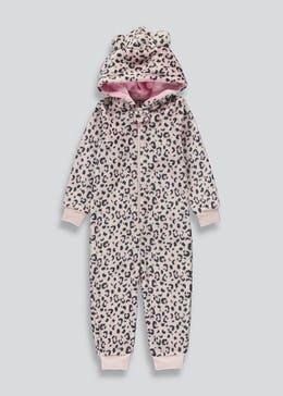 Girls Leopard Print Onesie (18mths-5yrs)