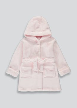 Girls Hooded Dressing Gown (9mths-5yrs)