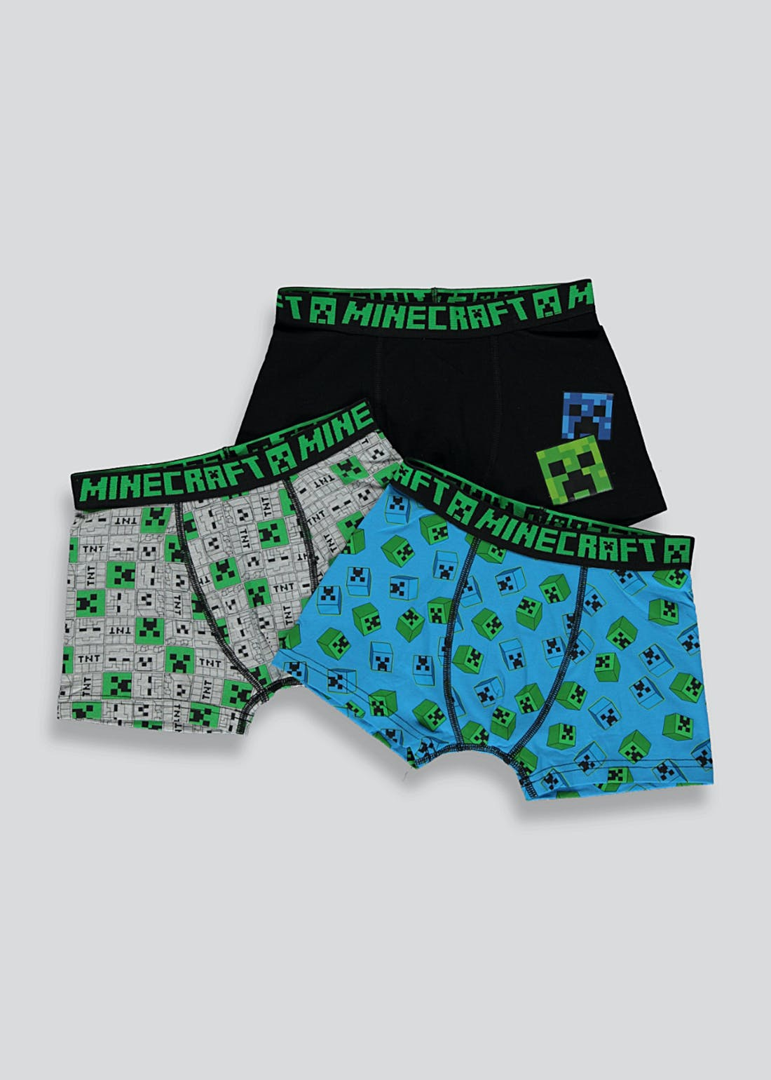 Boys 3 Pack Minecraft Trunks (4-11yrs)