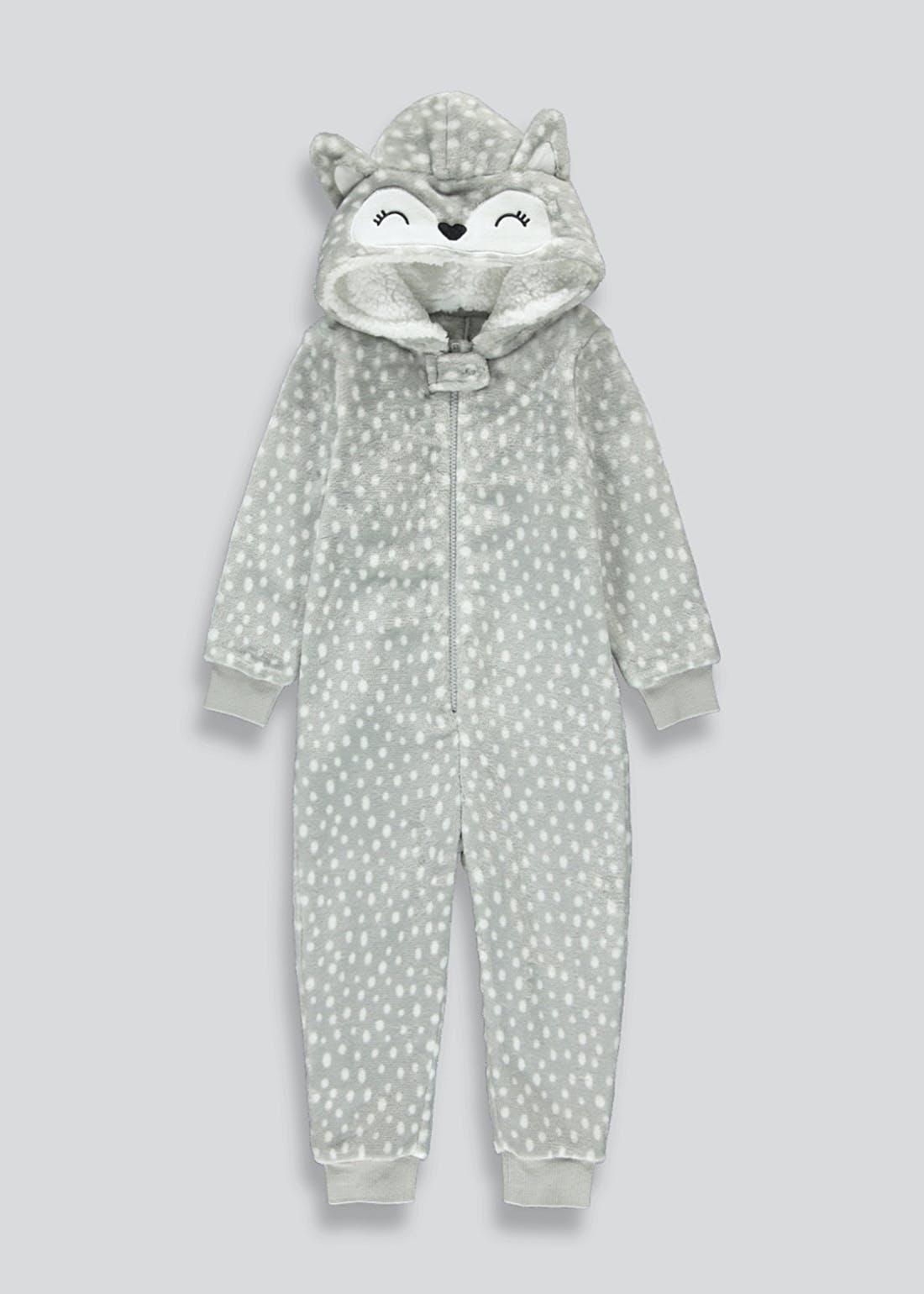 Kids Fox Fleece Onesie (12mths-5yrs)
