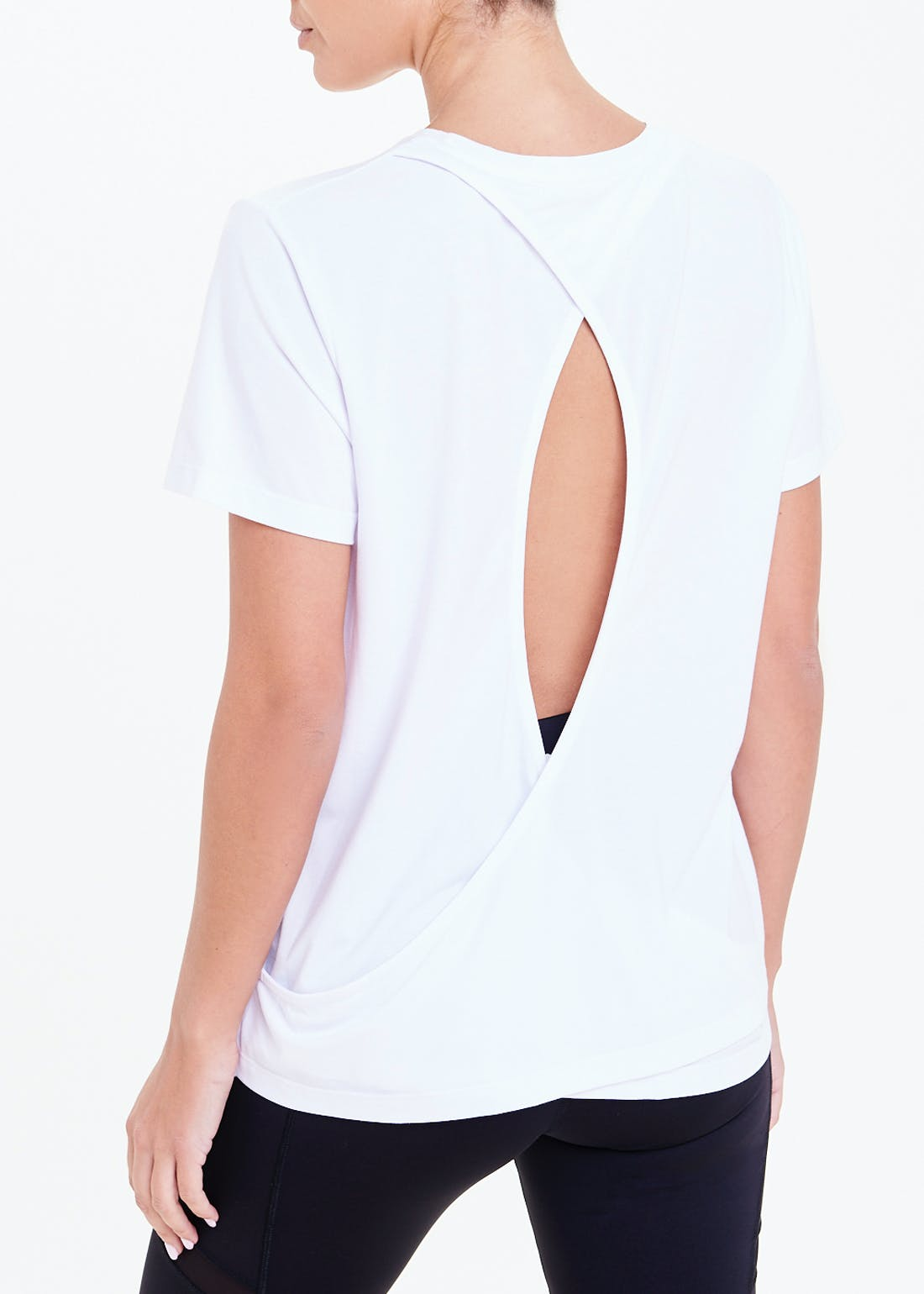 Souluxe White Open Back Gym Top