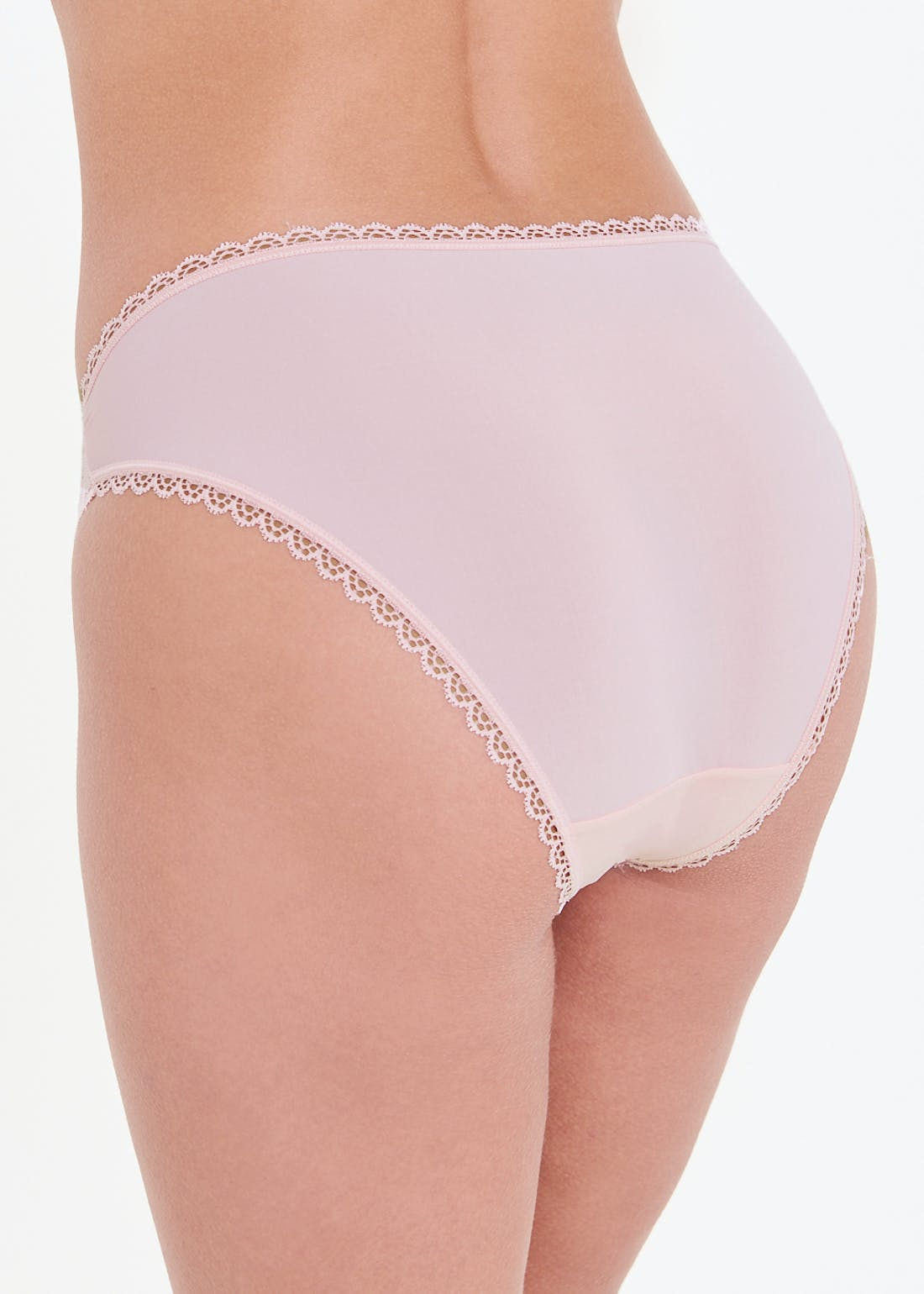 3 Pack Lace Centre High Leg Knickers