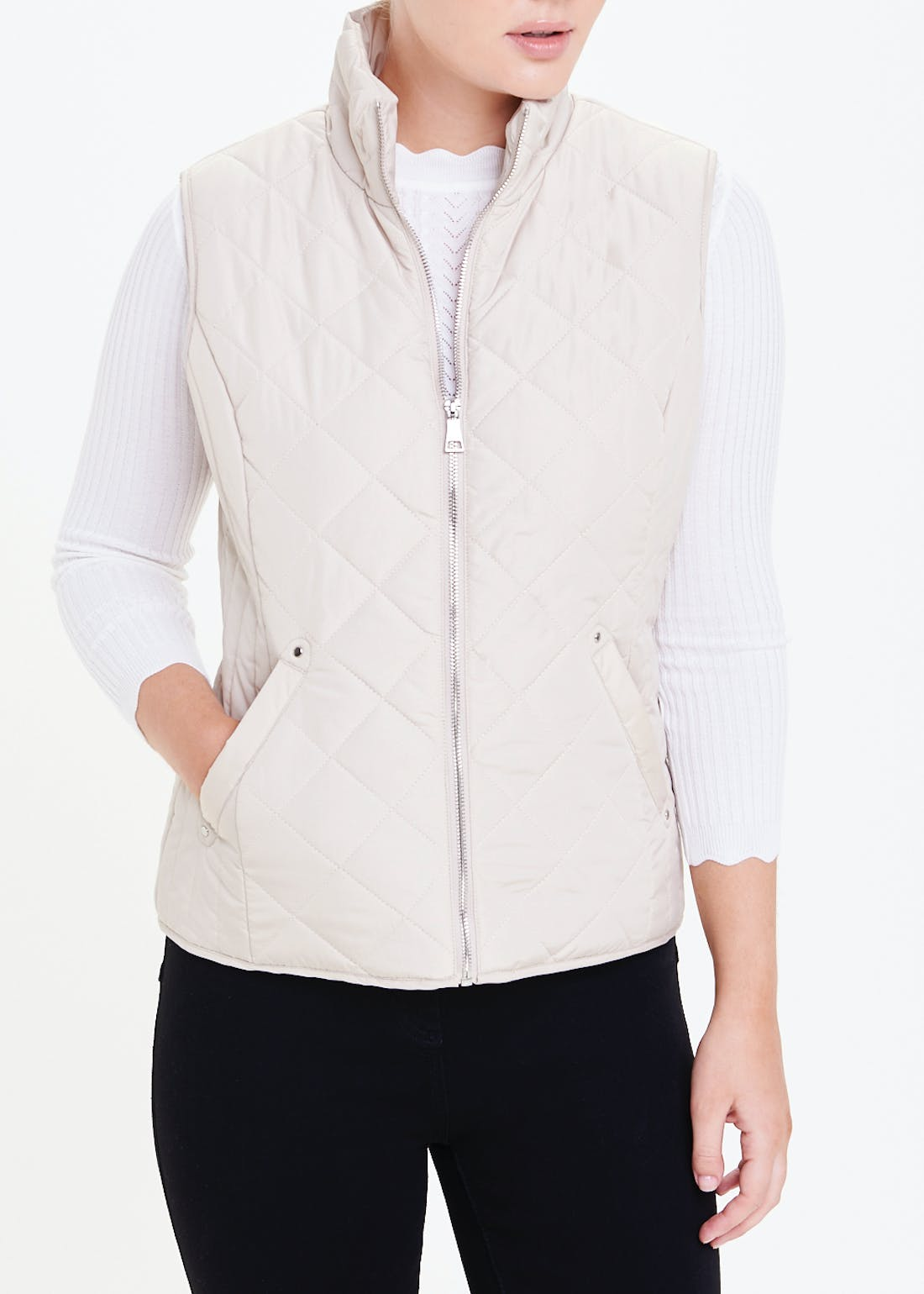 Papaya Classic Stone Quilted Gilet