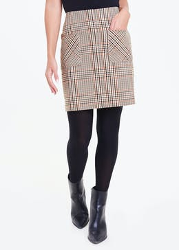 Check Pocket Mini Skirt