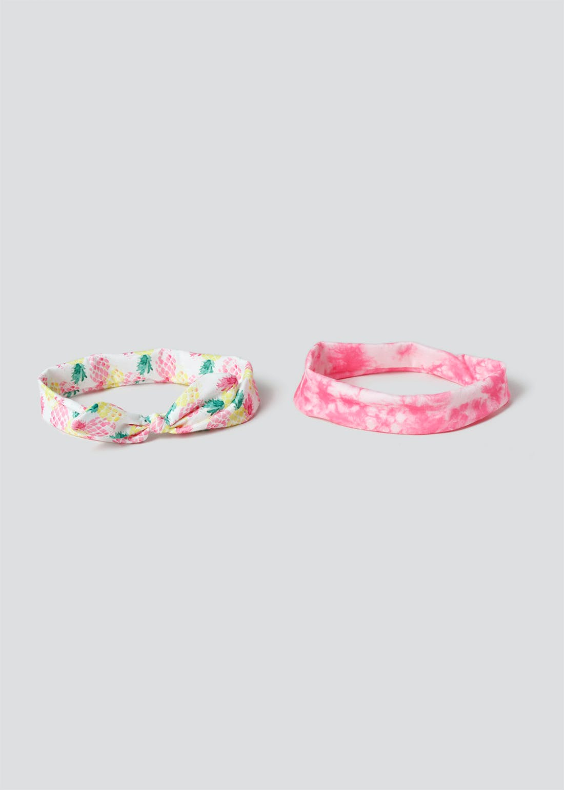 Girls 2 Pack Printed Bow Bandeau Headbands