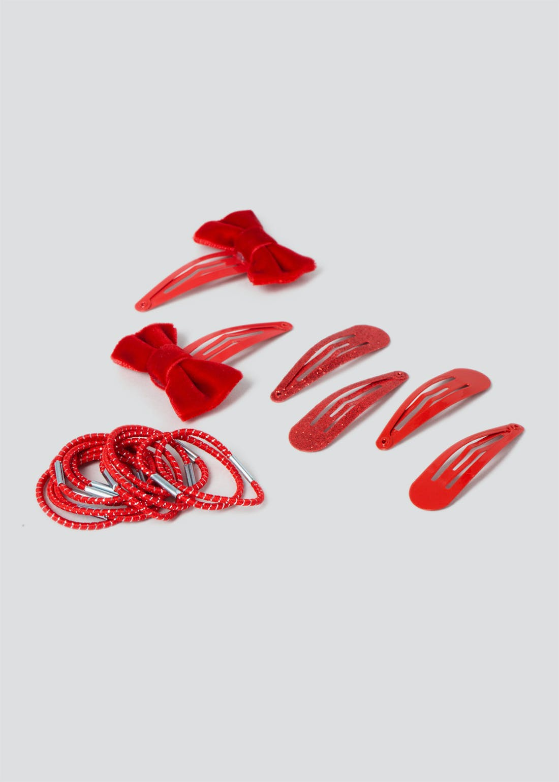 Girls Red School Hair Band & Clip Pack