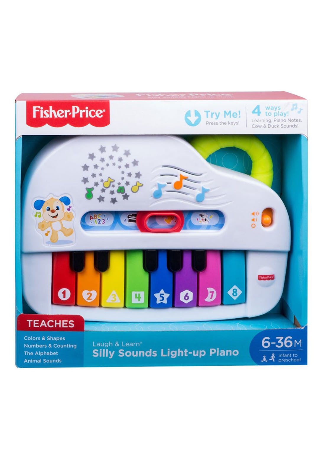 Fisher-Price Laugh and Learn Silly Sounds Light-Up Piano (26.5cm x 24cm x 6cm)