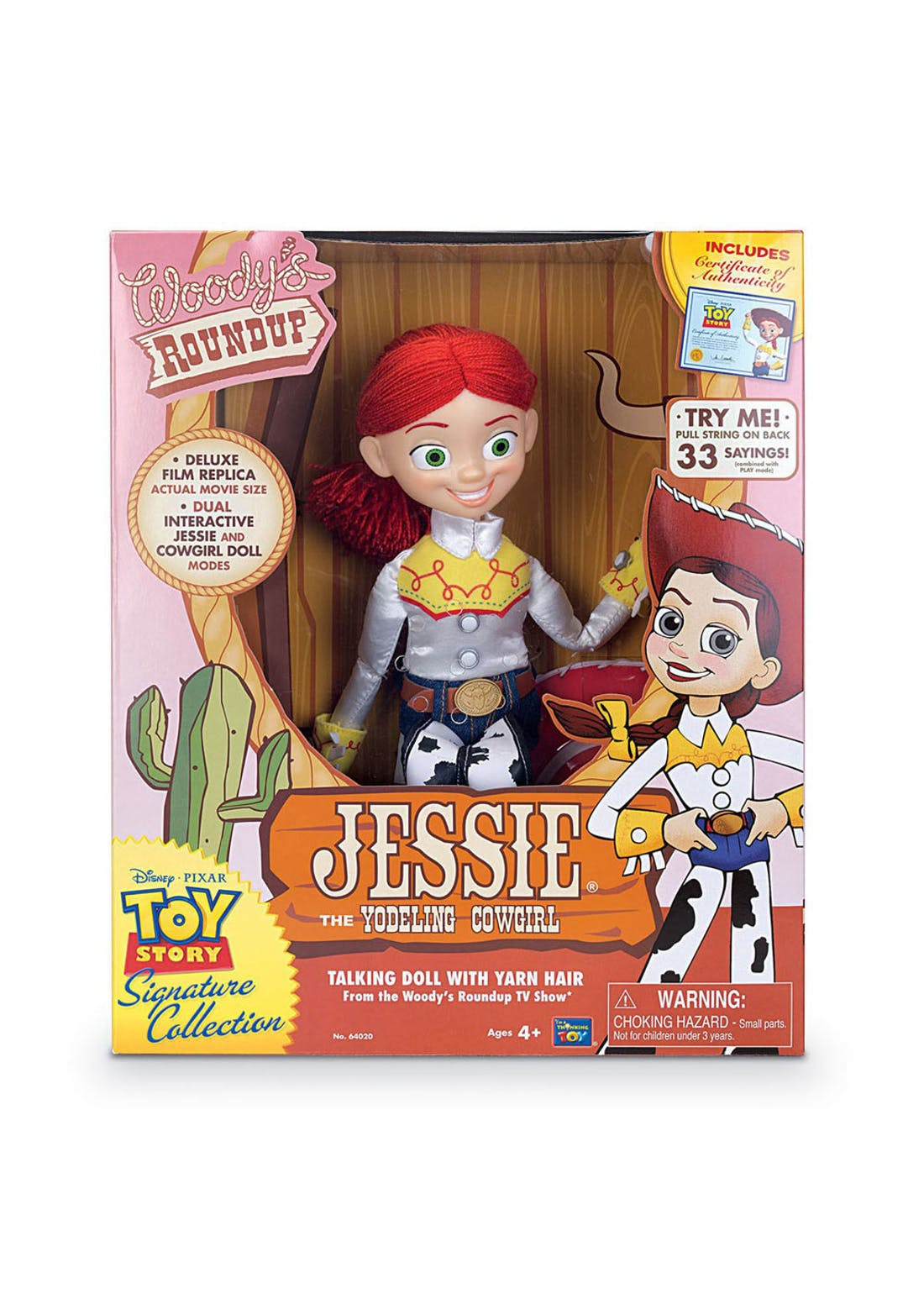 Disney Pixar Toy Story 4 Collection Yodelling Jessie Figure (33cm x 28cm x 11cm)