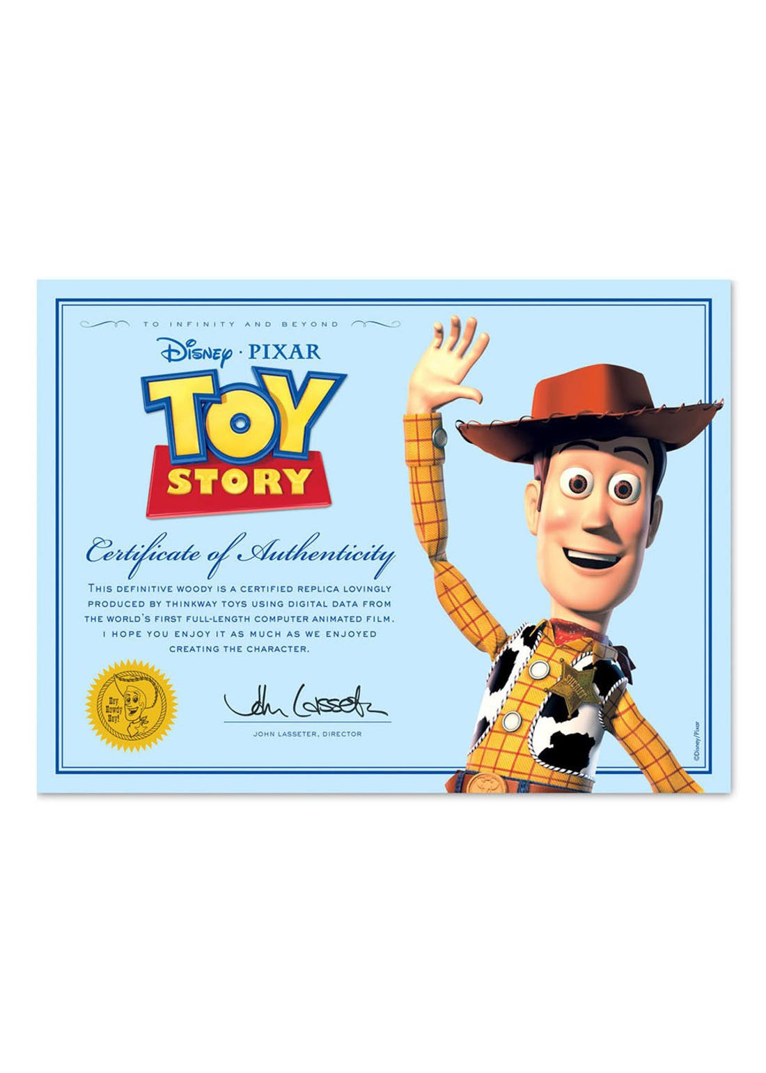 Disney Pixar Toy Story 4 Collection Woody Figure (33cm x 28cm x 11cm)