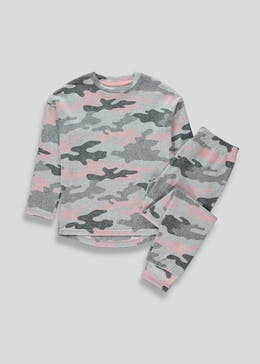 Girls Camo Print Pyjama Set (4-13yrs)