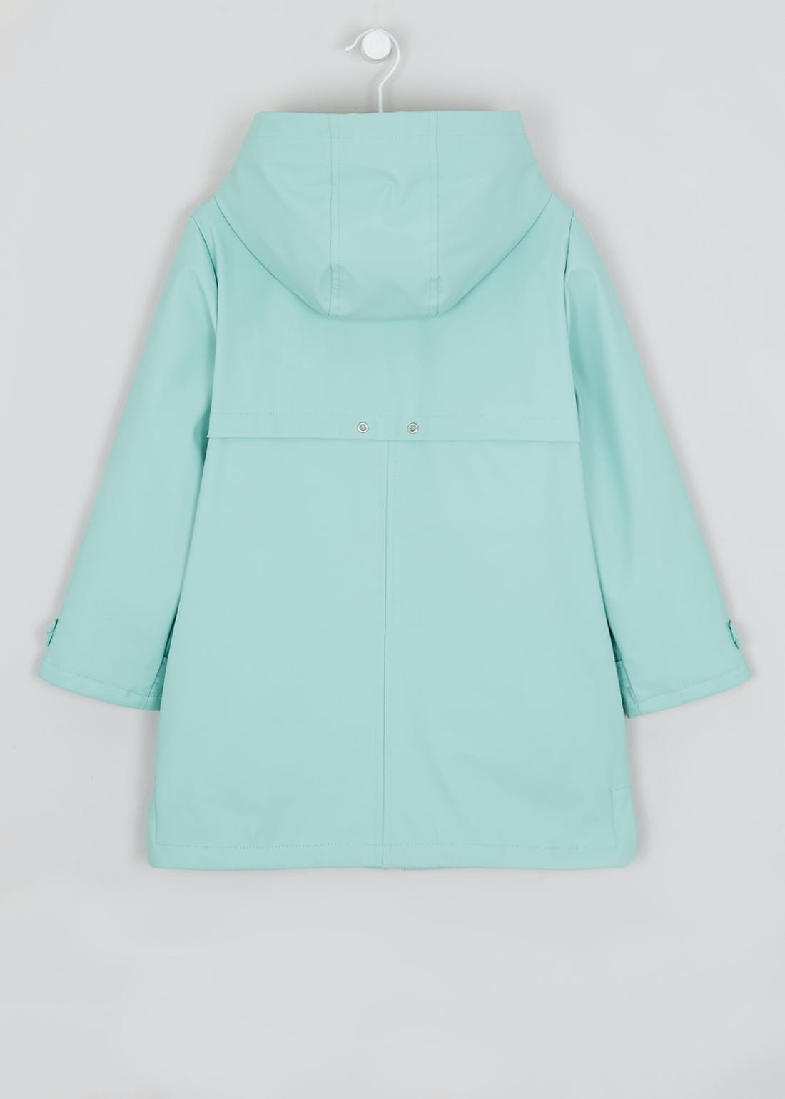 Girls Turquoise Faux Fur Lined Mac (4-13yrs)