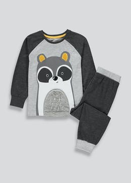 Boys Racoon Print Pyjama Set (9mths-5yrs)