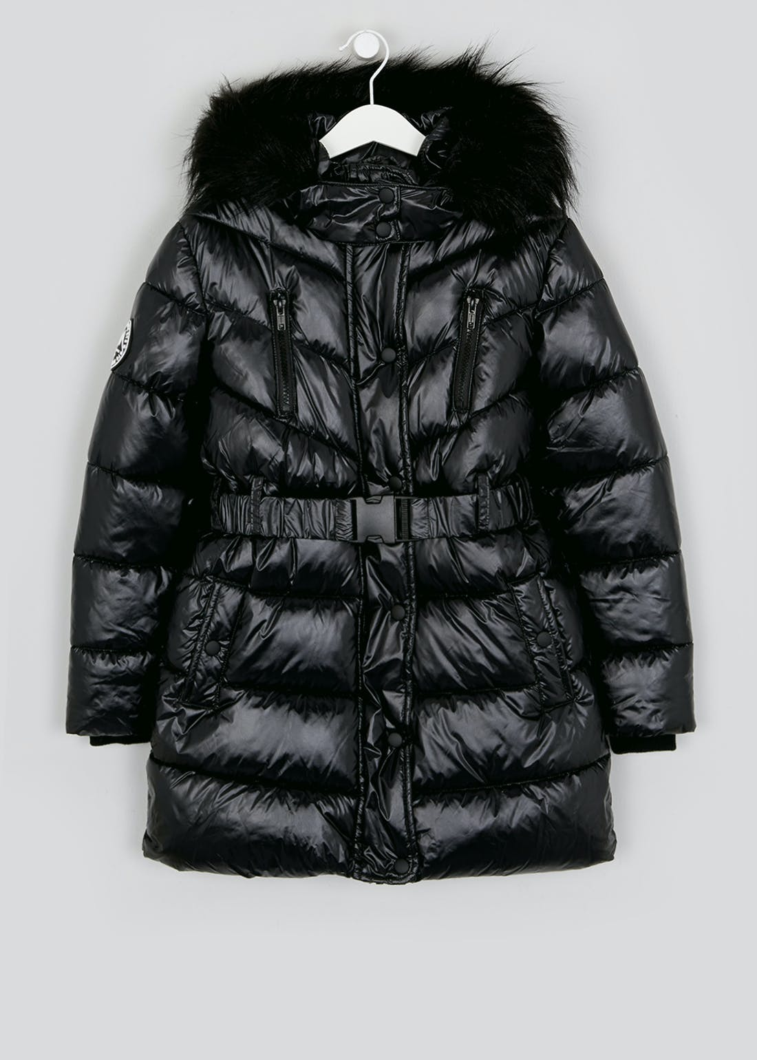 Girls Candy Couture Black Padded Coat (9-16yrs)