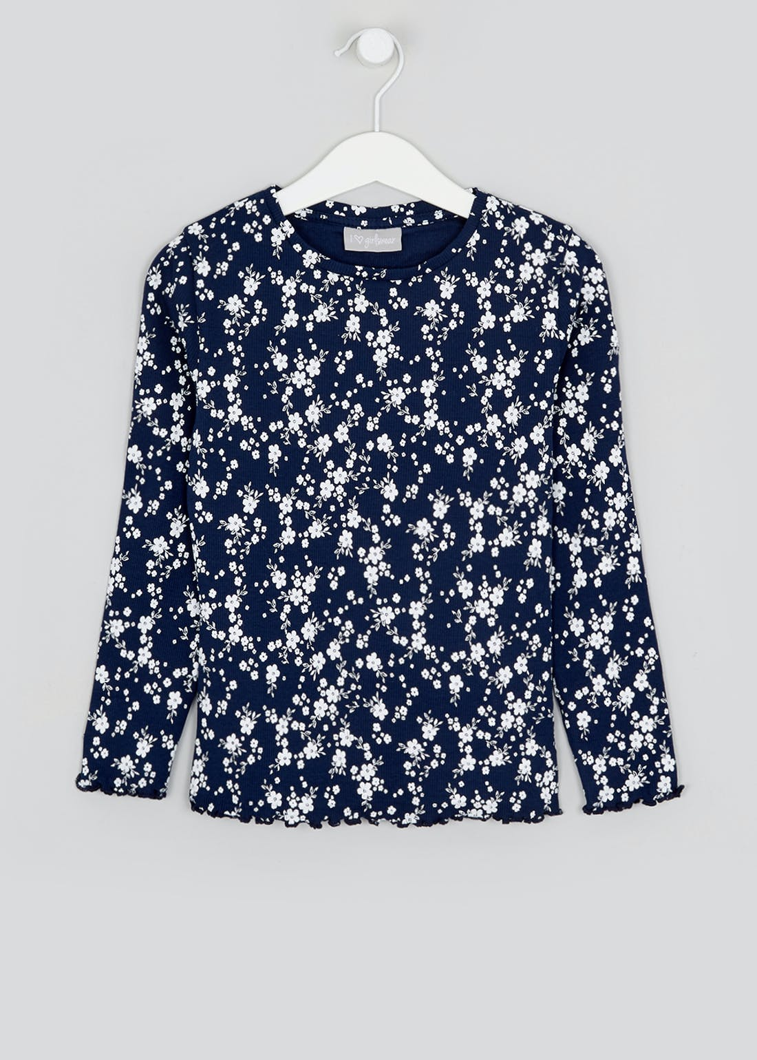 Girls Long Sleeve Ditsy Floral Top (4-13yrs)