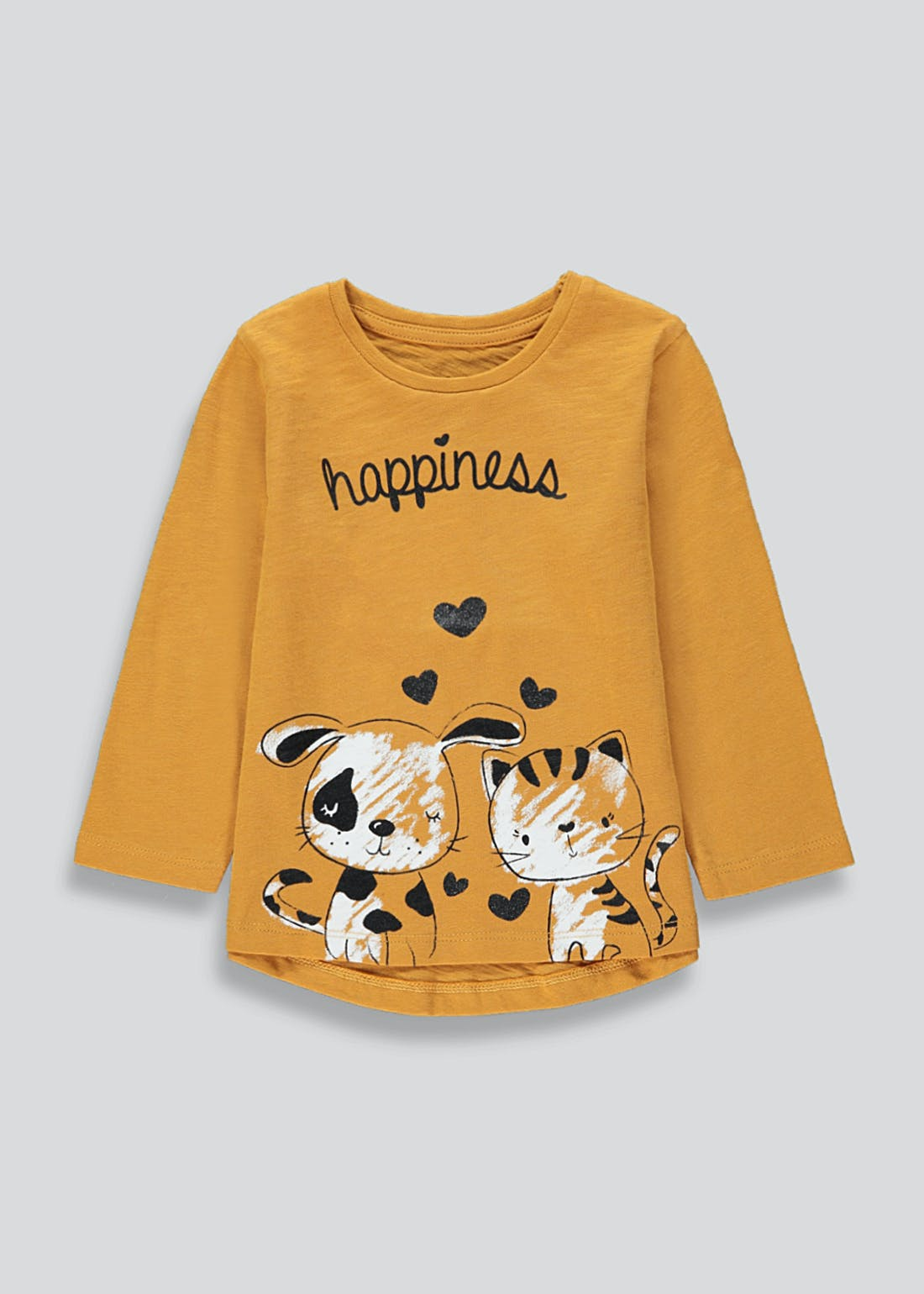 Girls Long Sleeve Happiness T-Shirt (9mths-6yrs)