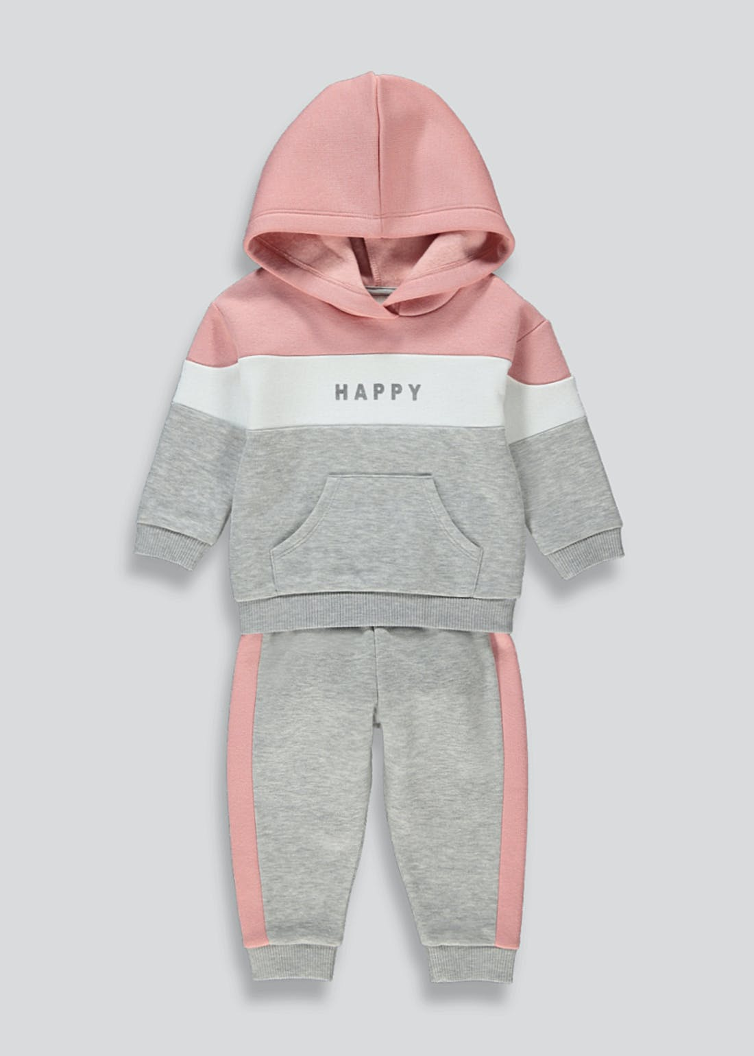 Girls Happy Slogan Lounge Set (9mths-6yrs)