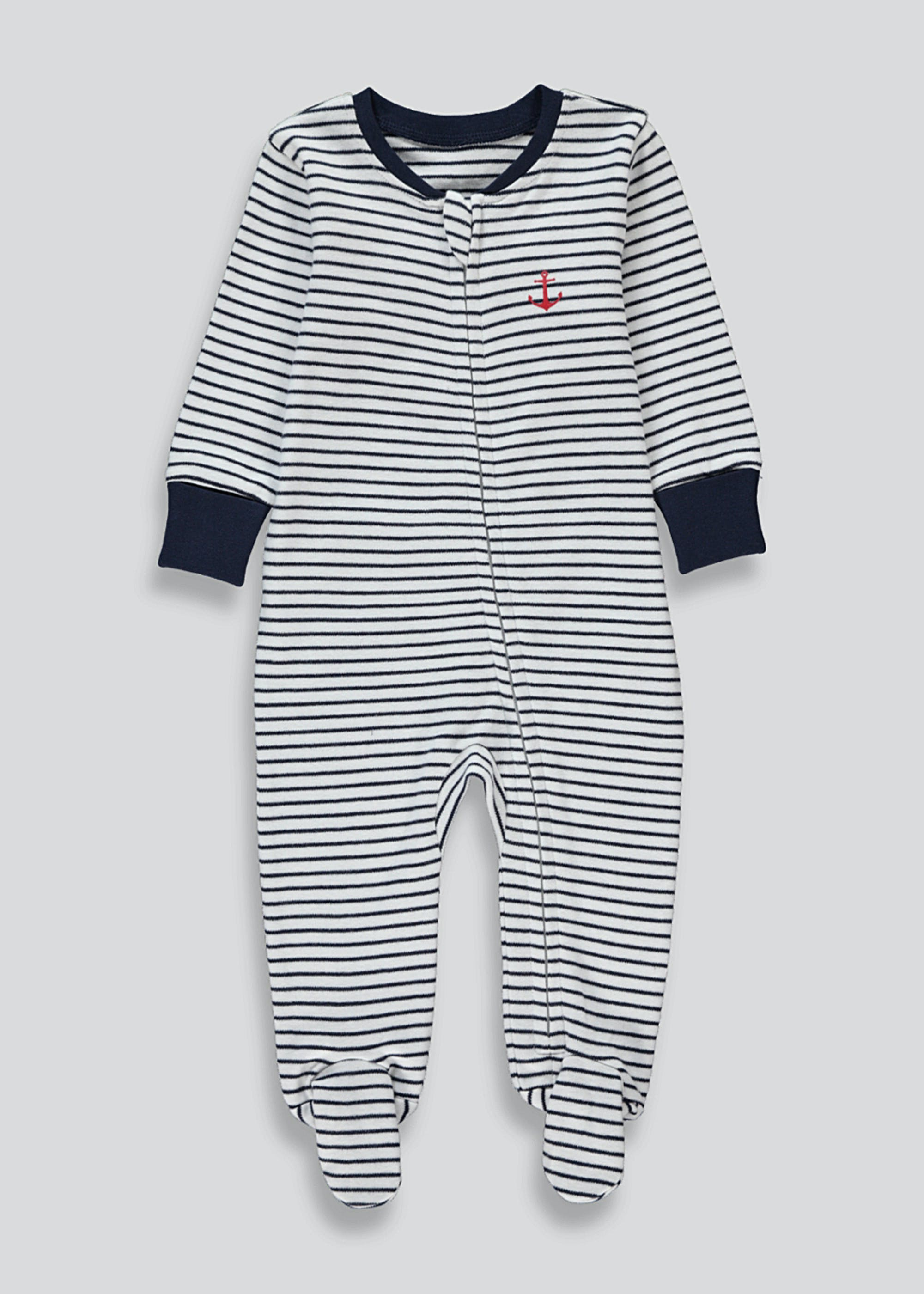 Boys Zip Up Baby Grow (Tiny Baby-4mths)