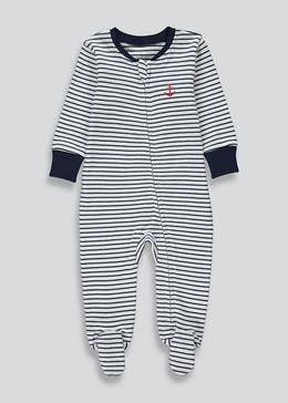 Boys Striped Sleepsuit (Tiny Baby-12mths)