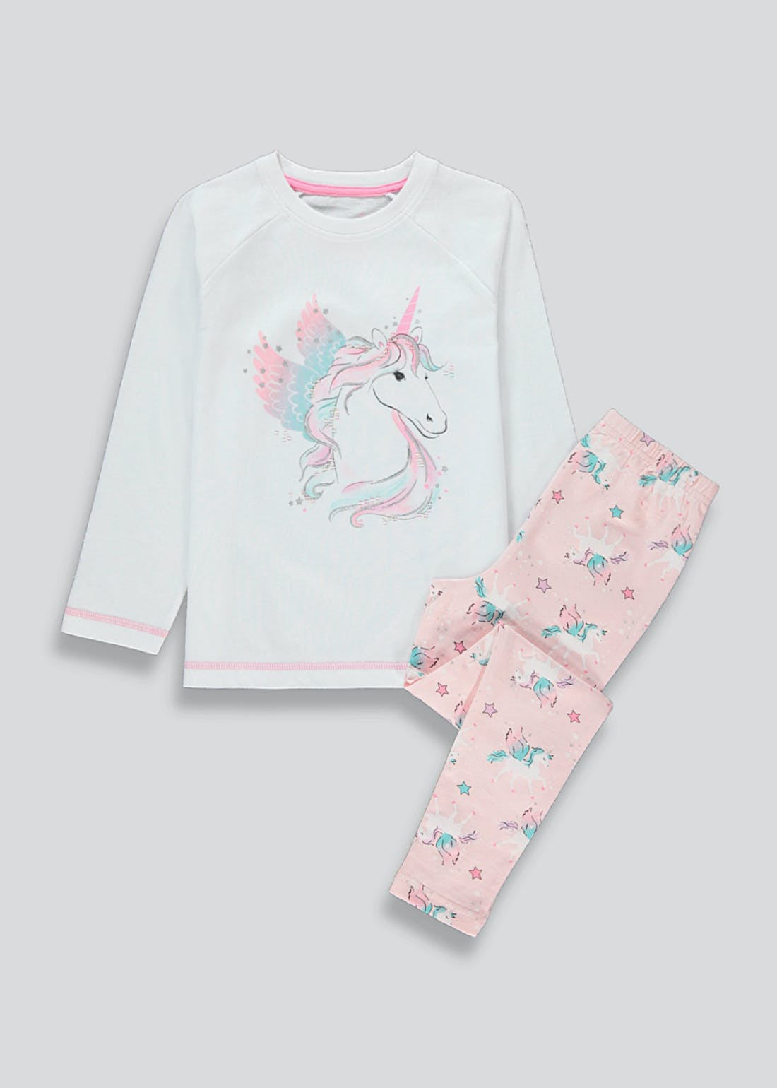 Girls Unicorn Pyjamas (4-13yrs)
