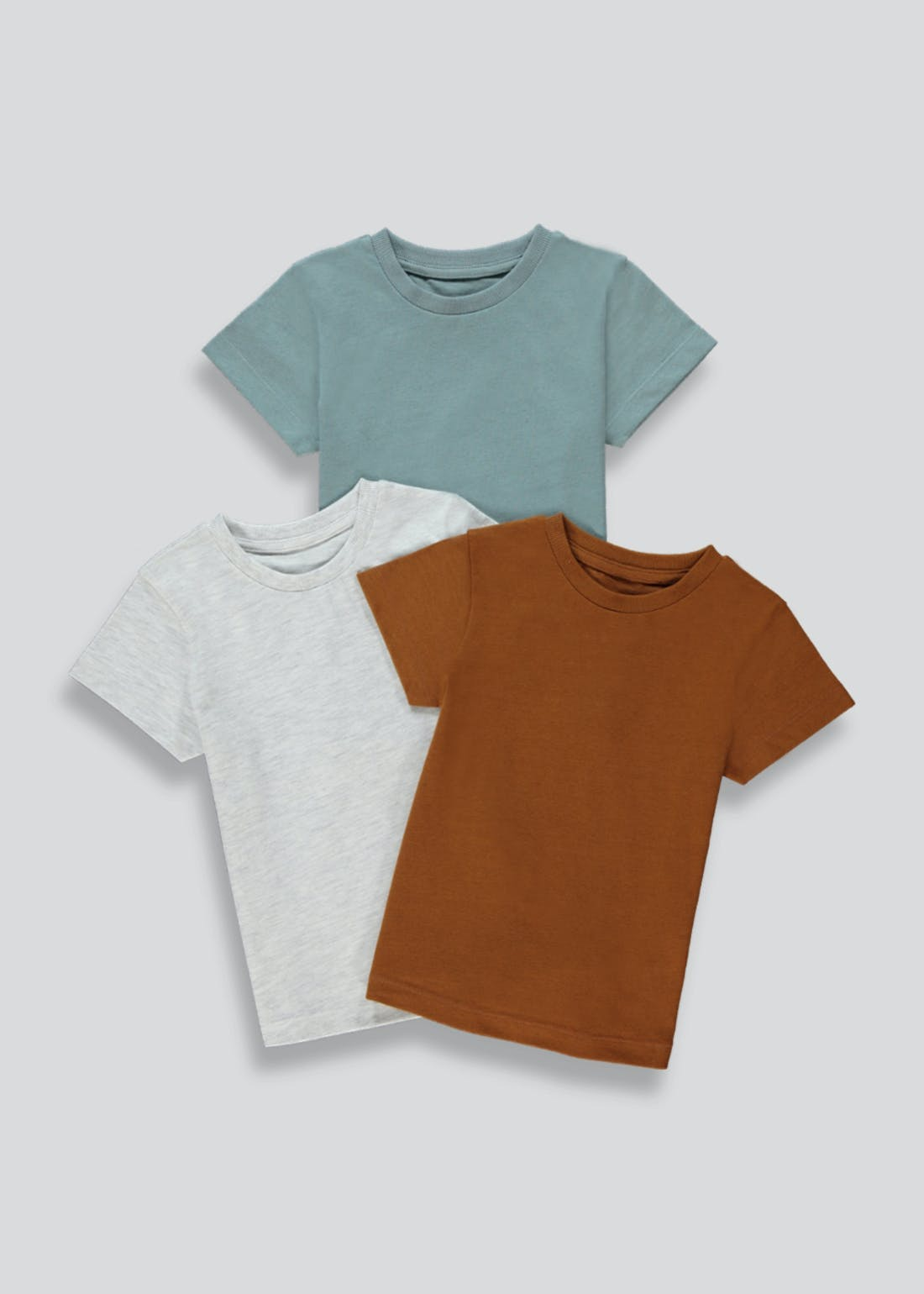 Boys 3 Pack Plain T-Shirts (9mths-6yrs)