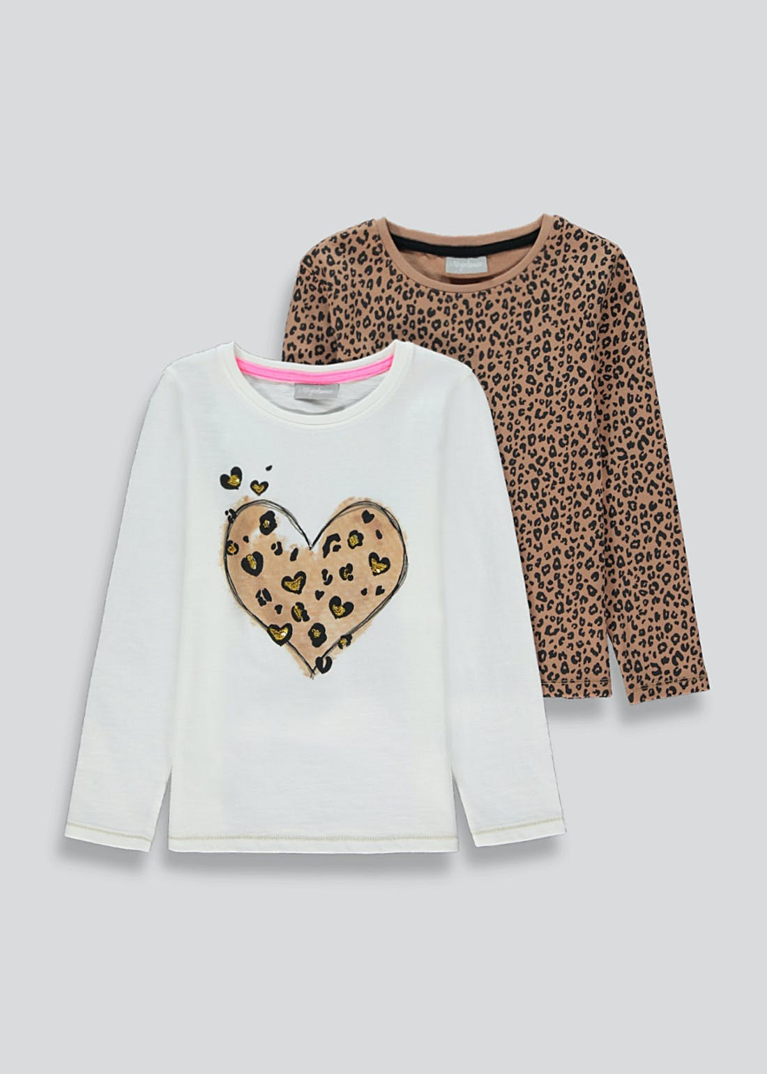 Girls 2 Pack Long Sleeve T-Shirts (4-13yrs)