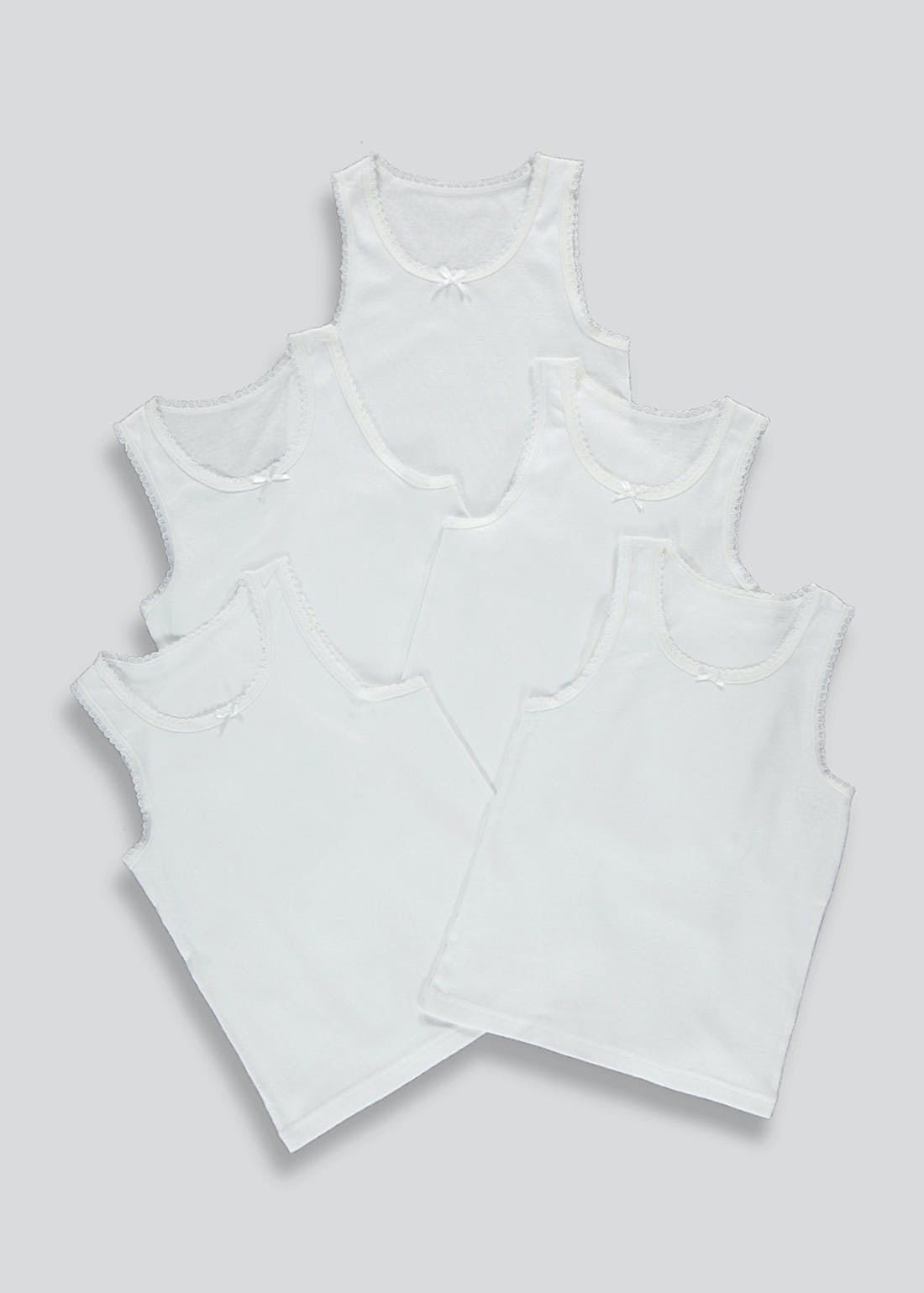 Girls 5 Pack Vests (2-11yrs)