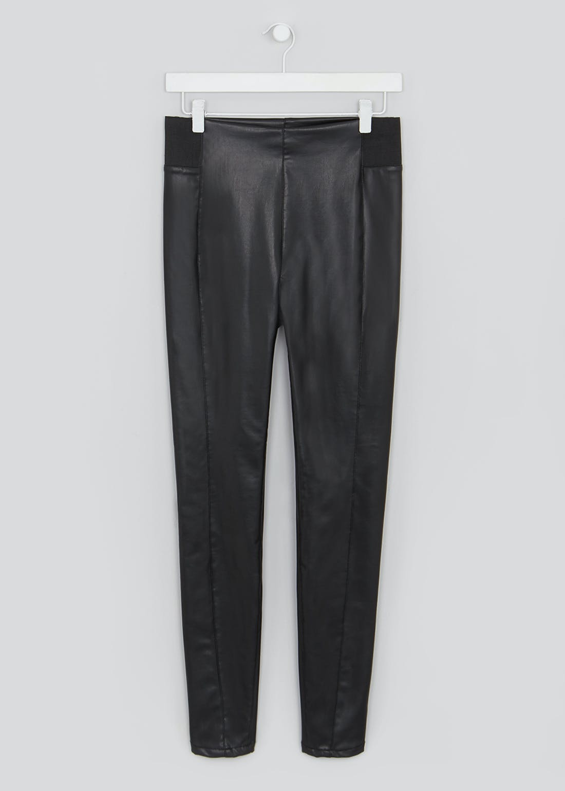 Leather Look Skinny PU Trousers