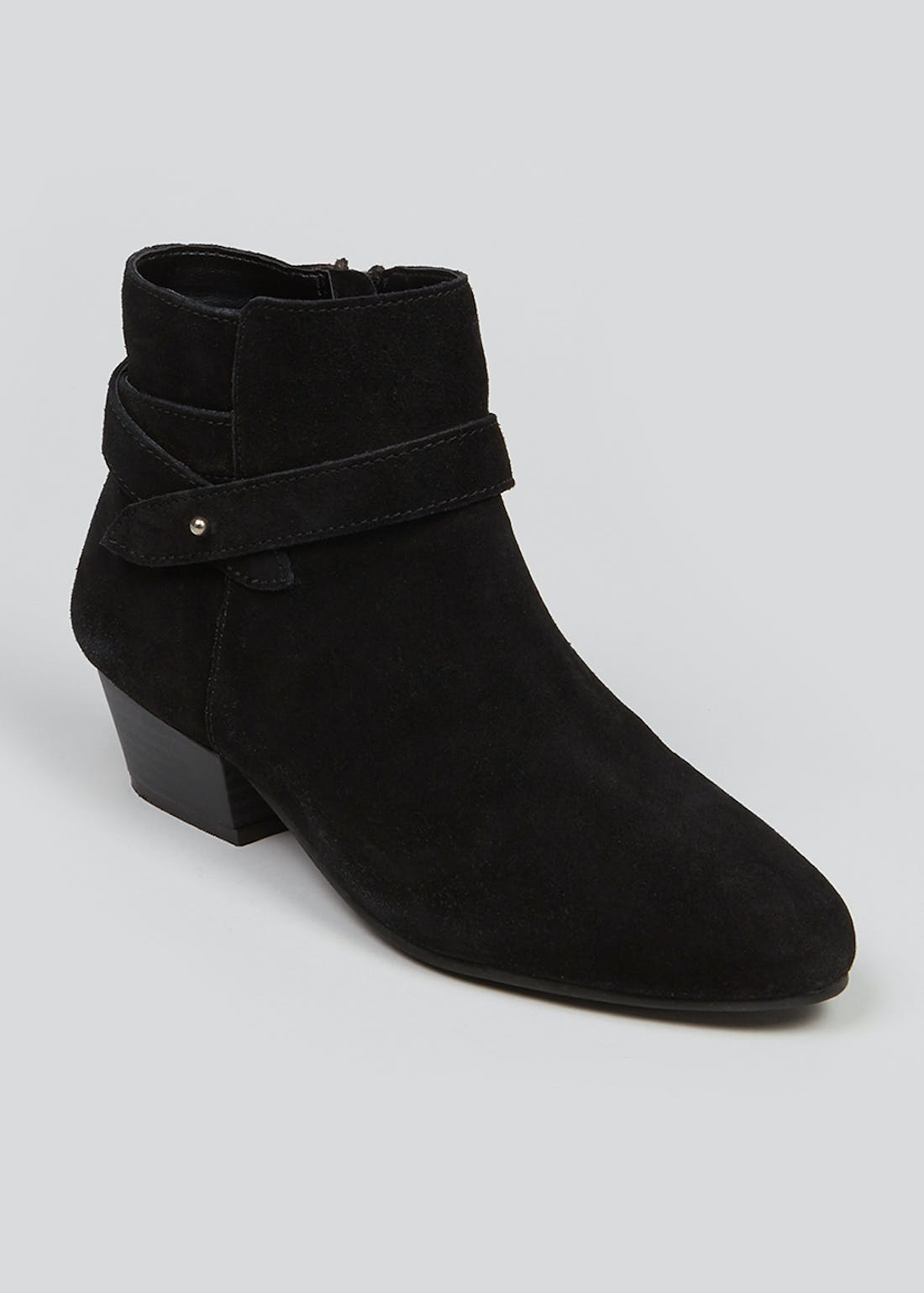Soleflex Black Suede Ankle Boots