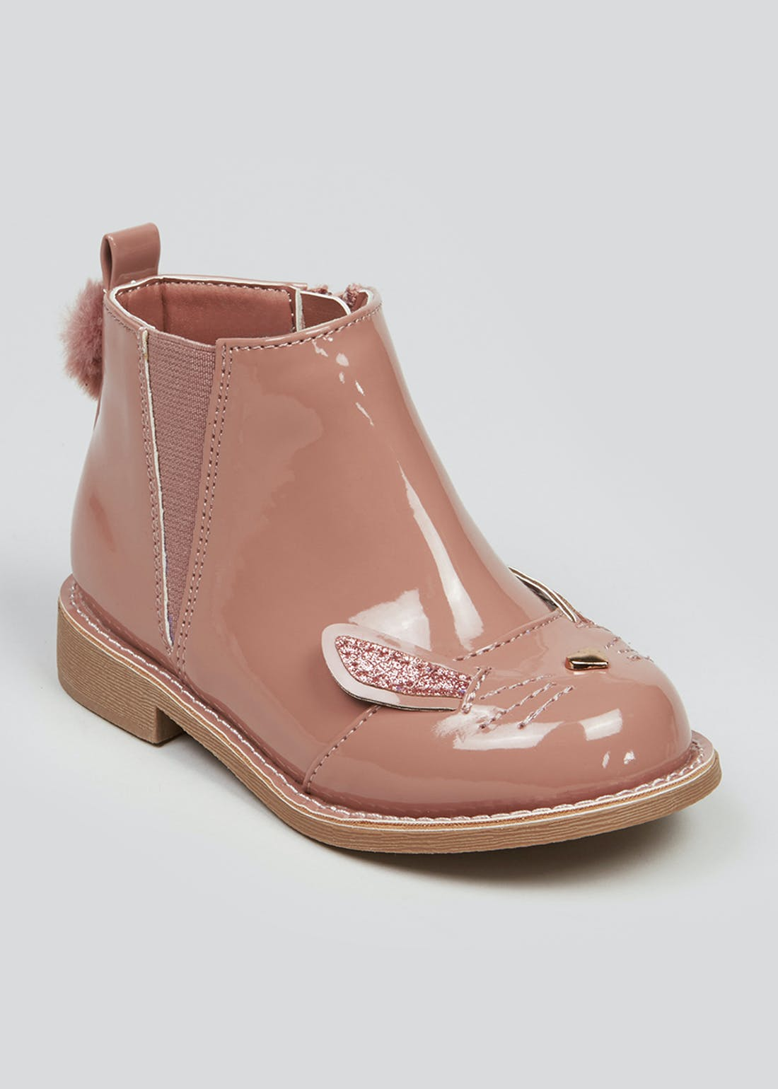 Girls Pink Bunny Boots (Younger 4-12)