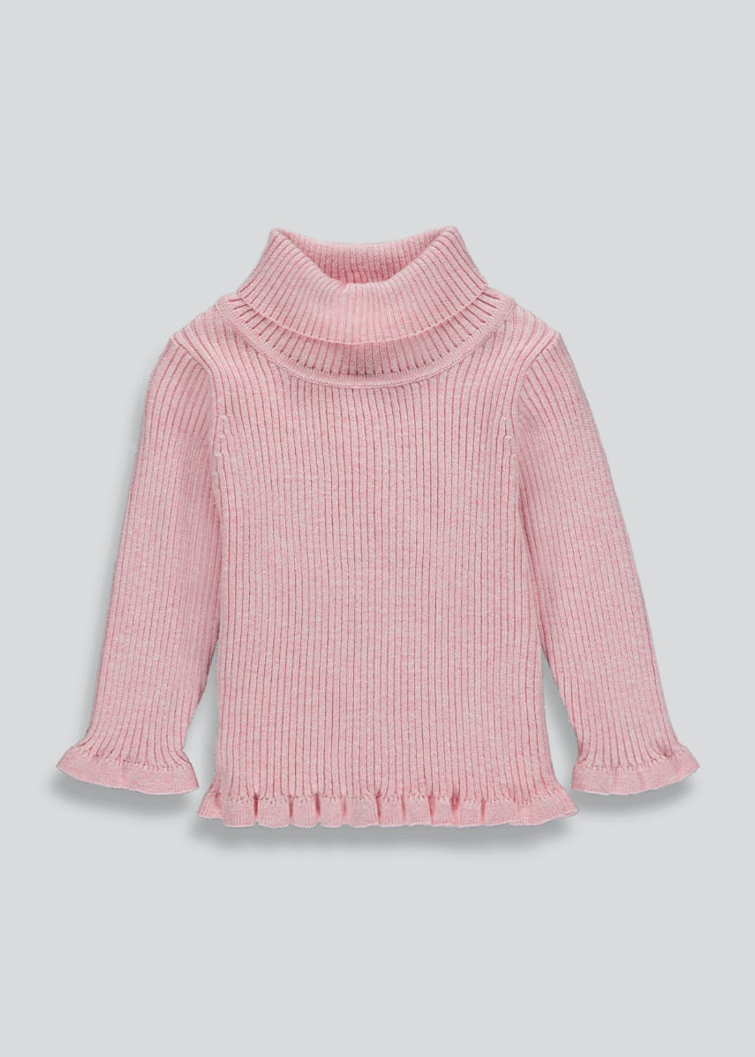 Girls Ribbed Roll Neck Jumper (9mths-6yrs)