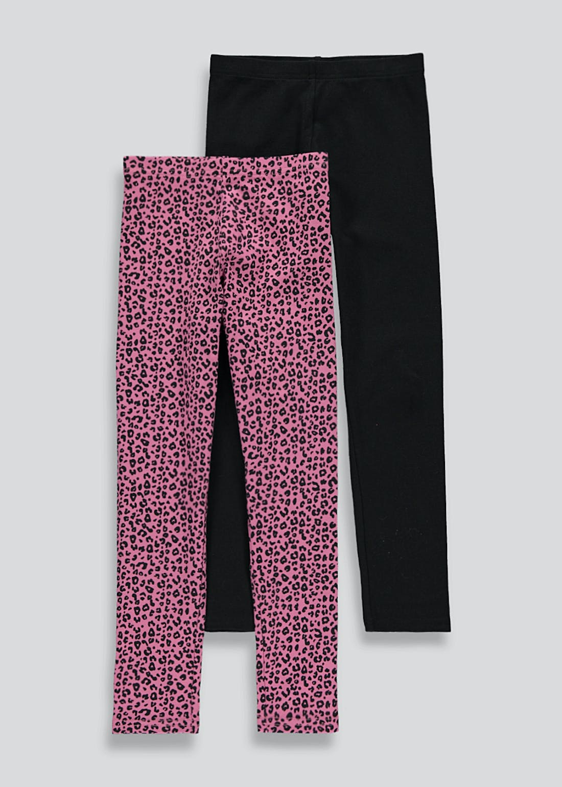 Girls 2 Pack Animal Print Leggings (4-13yrs)