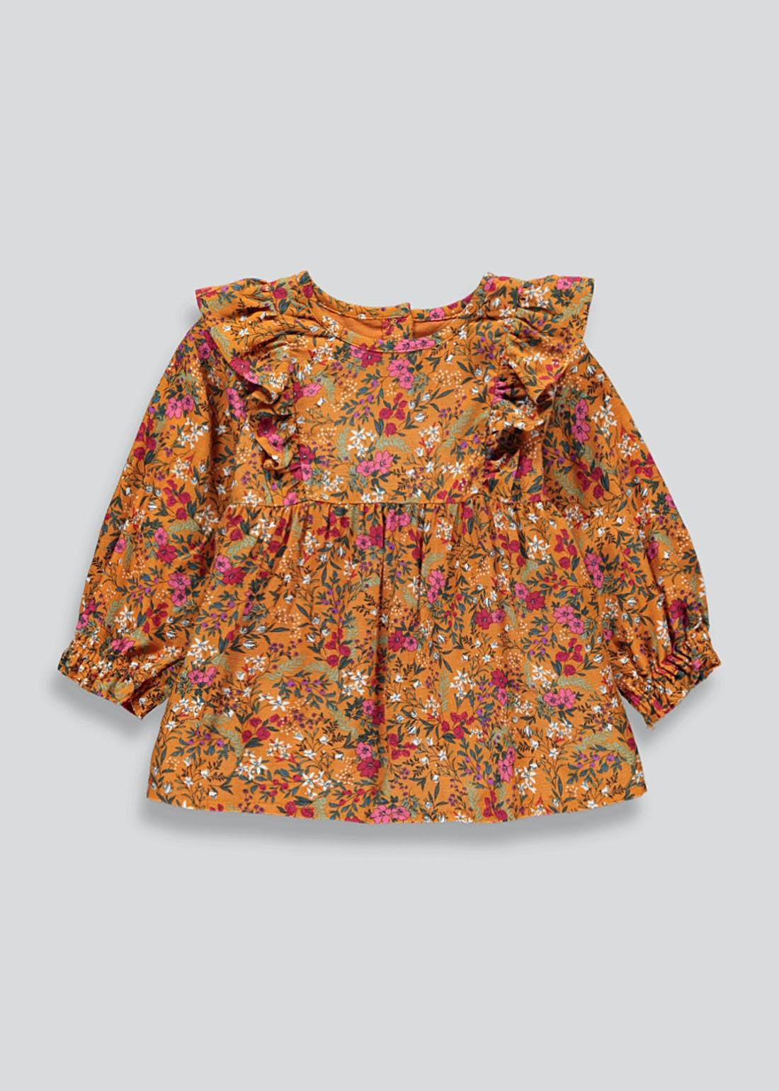 Girls Floral Frill Top (9mths-6yrs)