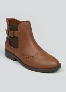 Girls Tan Chelsea Boots (Younger 4-12)