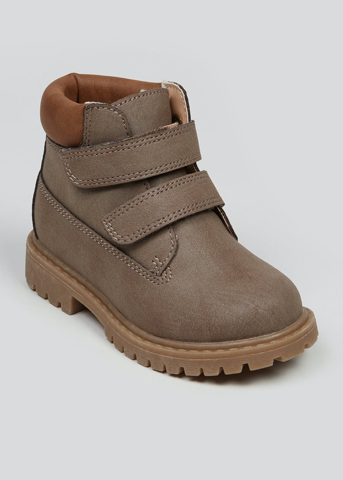 Boys Taupe Hiker Boots (Younger 4-12)