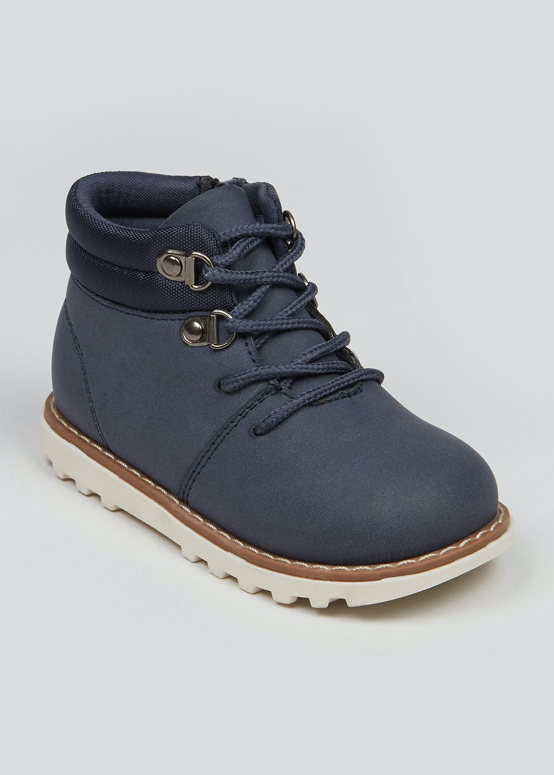 Boys Navy Lace Up Boots (Younger 4-12)