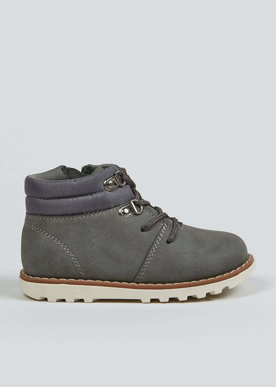 Boys Grey Lace Up Boots (Younger 4-12)