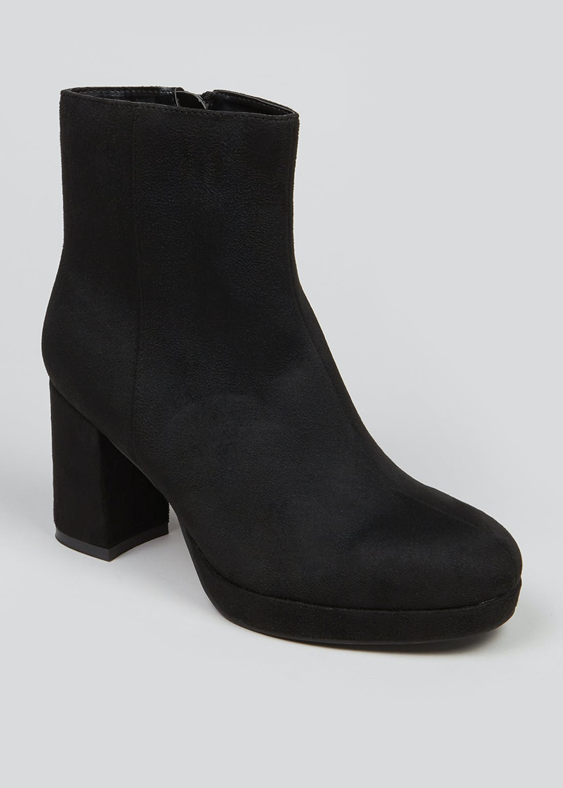 Wide Fit Black Suedette Boots