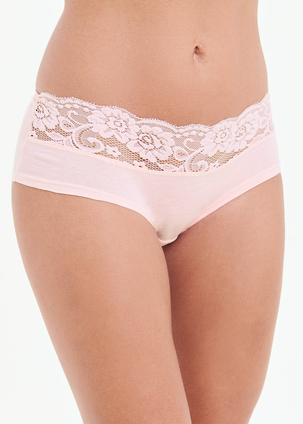 5 Pack Lace Trim Short Knickers – Multi