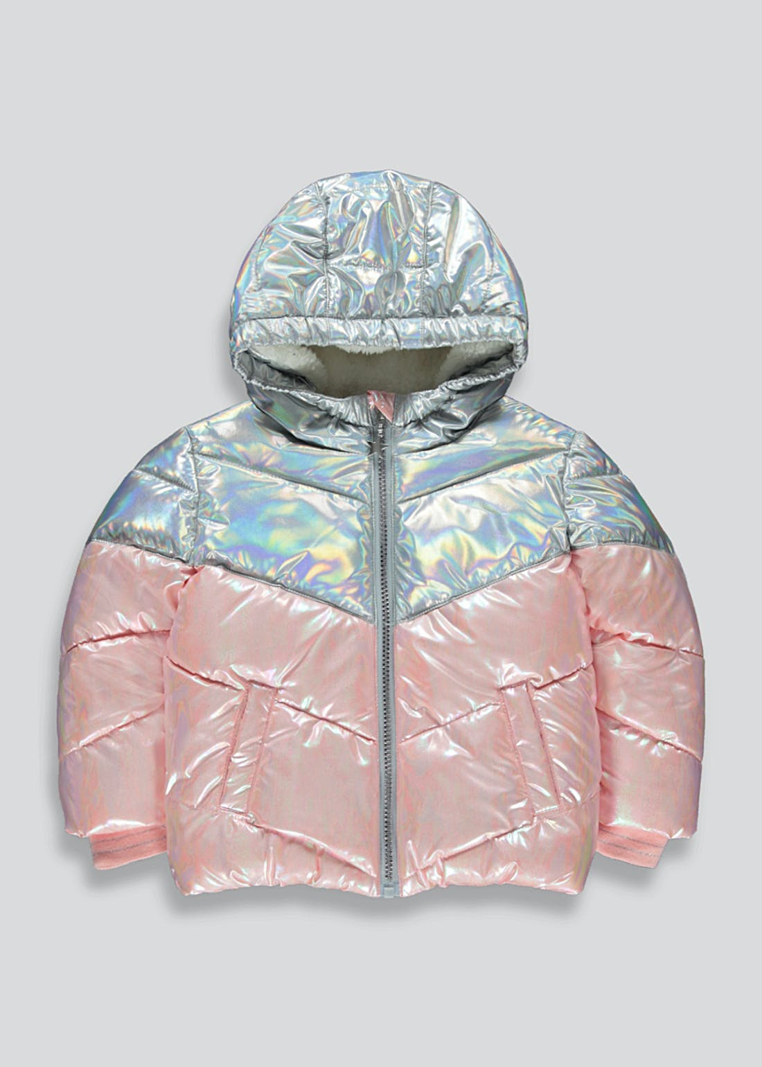 Girls Pink Metallic Padded Jacket (9mths-6yrs)
