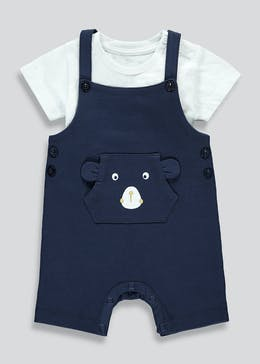 Boys Bear Dungaree Set (Newborn-23mths)