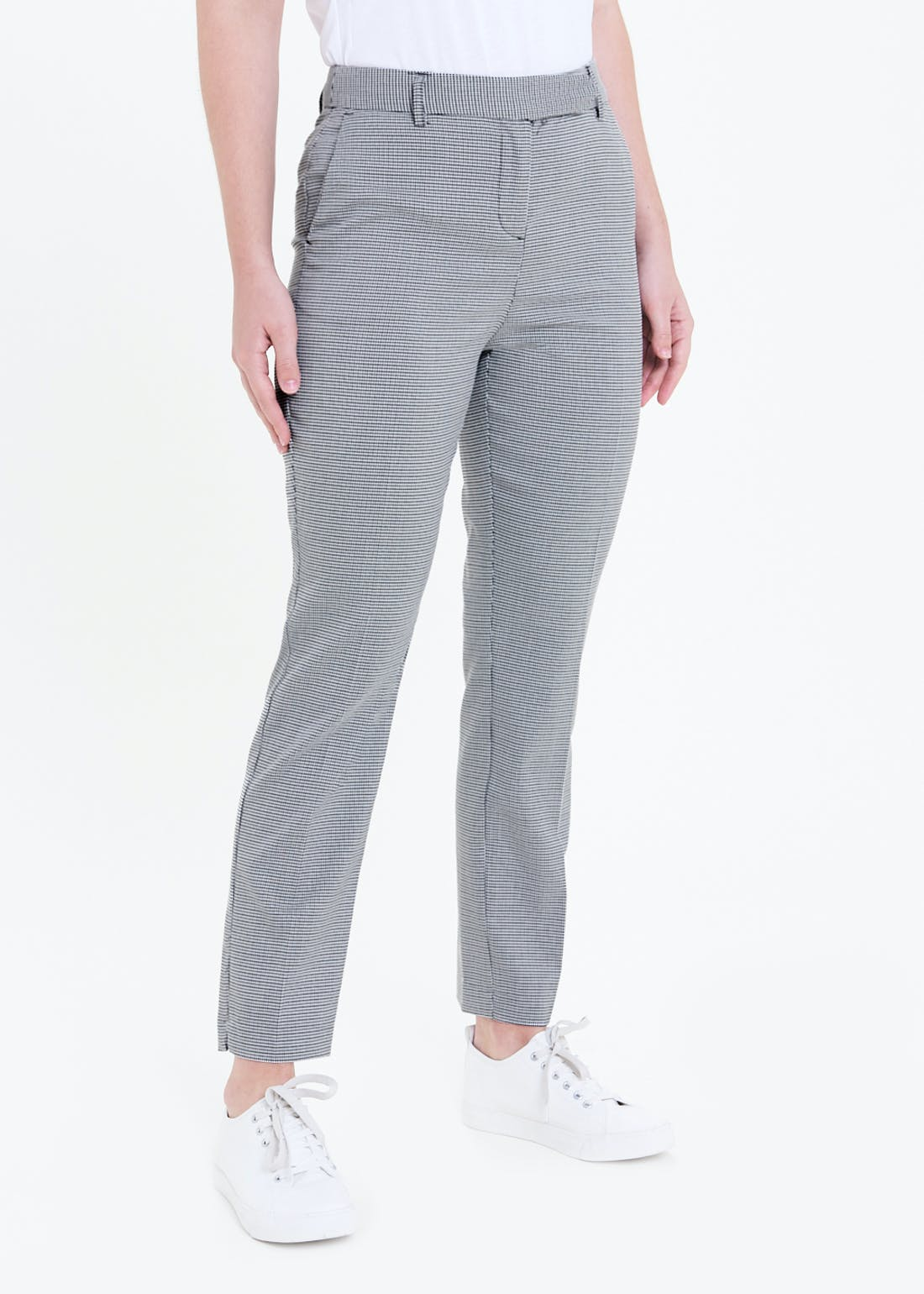 Check Tapered Suit Trousers (Long)