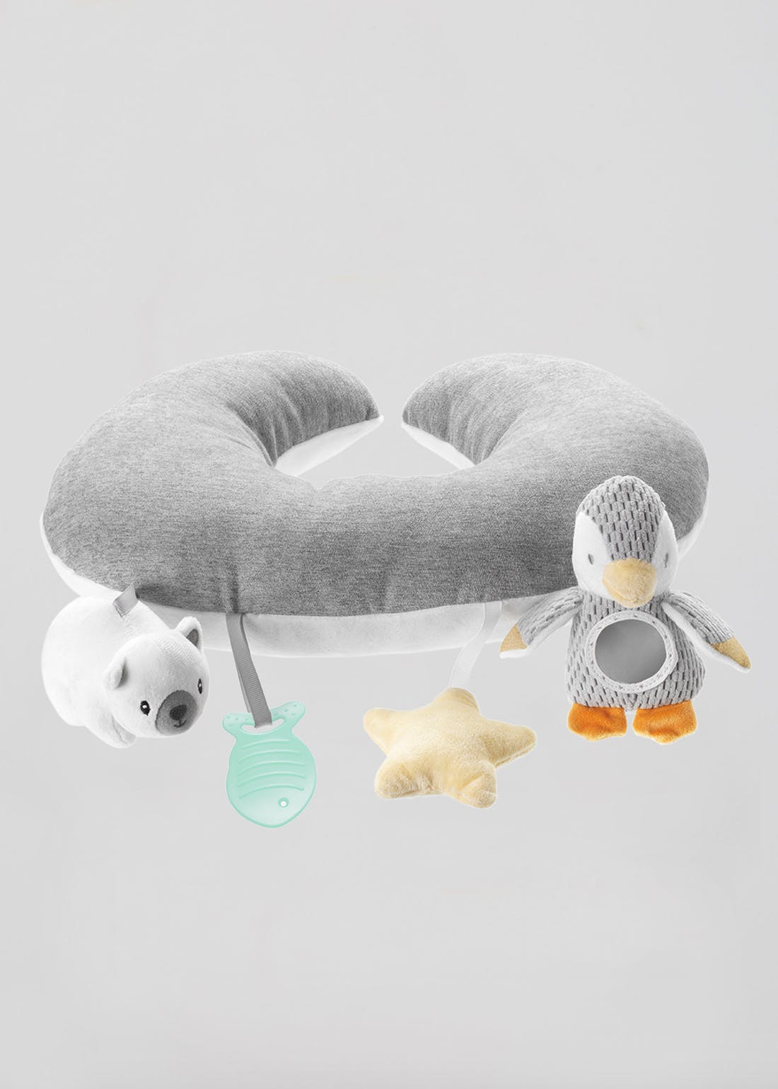 Nuby Penguin Tummy Time Baby Pillow