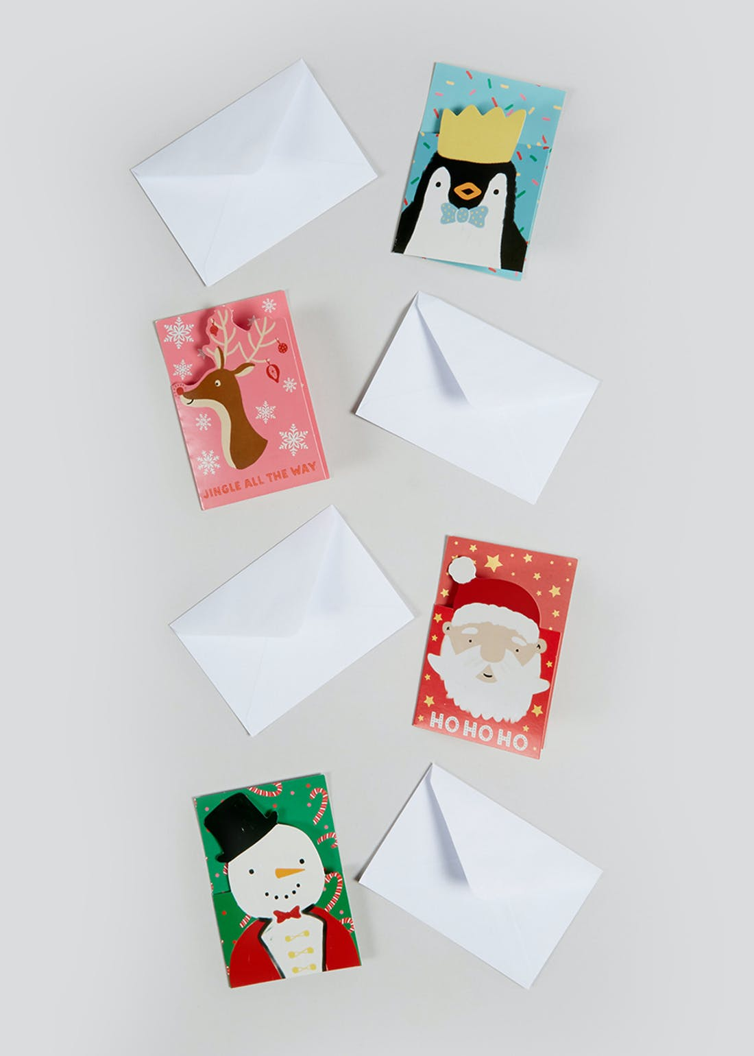 30 Pack Kids Cut Out Christmas Cards (9cm x 6.5cm)