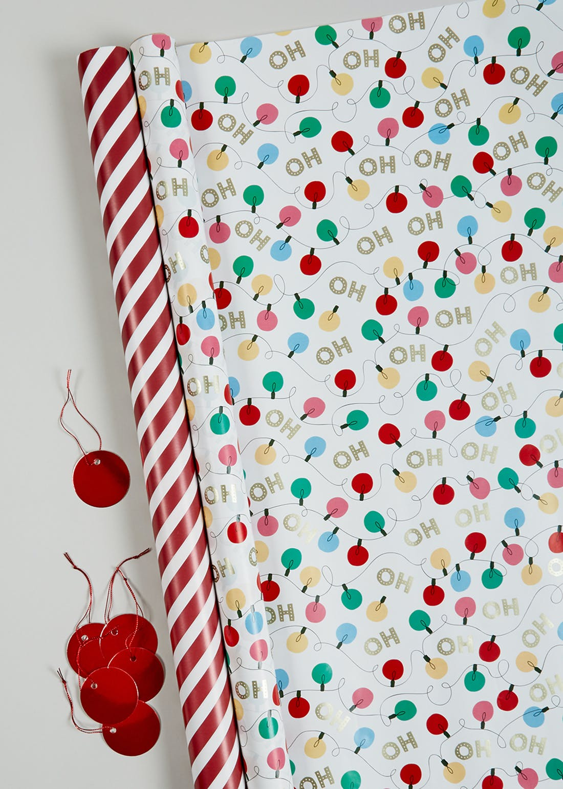 Carnival Christmas Wrapping Paper & Gift Tag Set