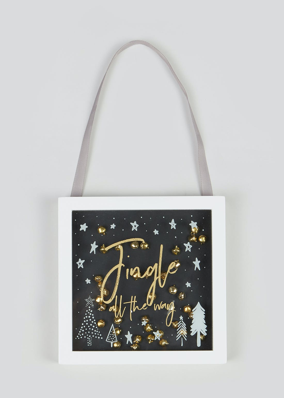 Jingle All The Way Hanging Sign (15cm x 15cm x 2cm)