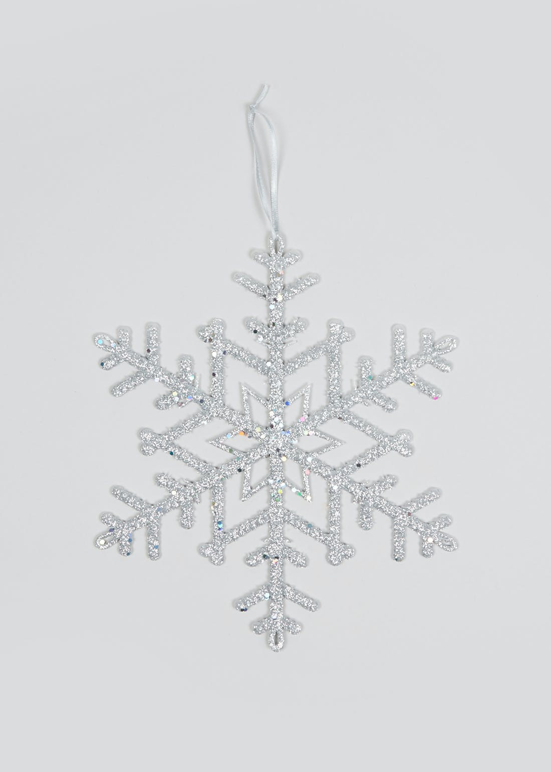 Glitter Snowflake Hanging Christmas Decoration (25.5cm)