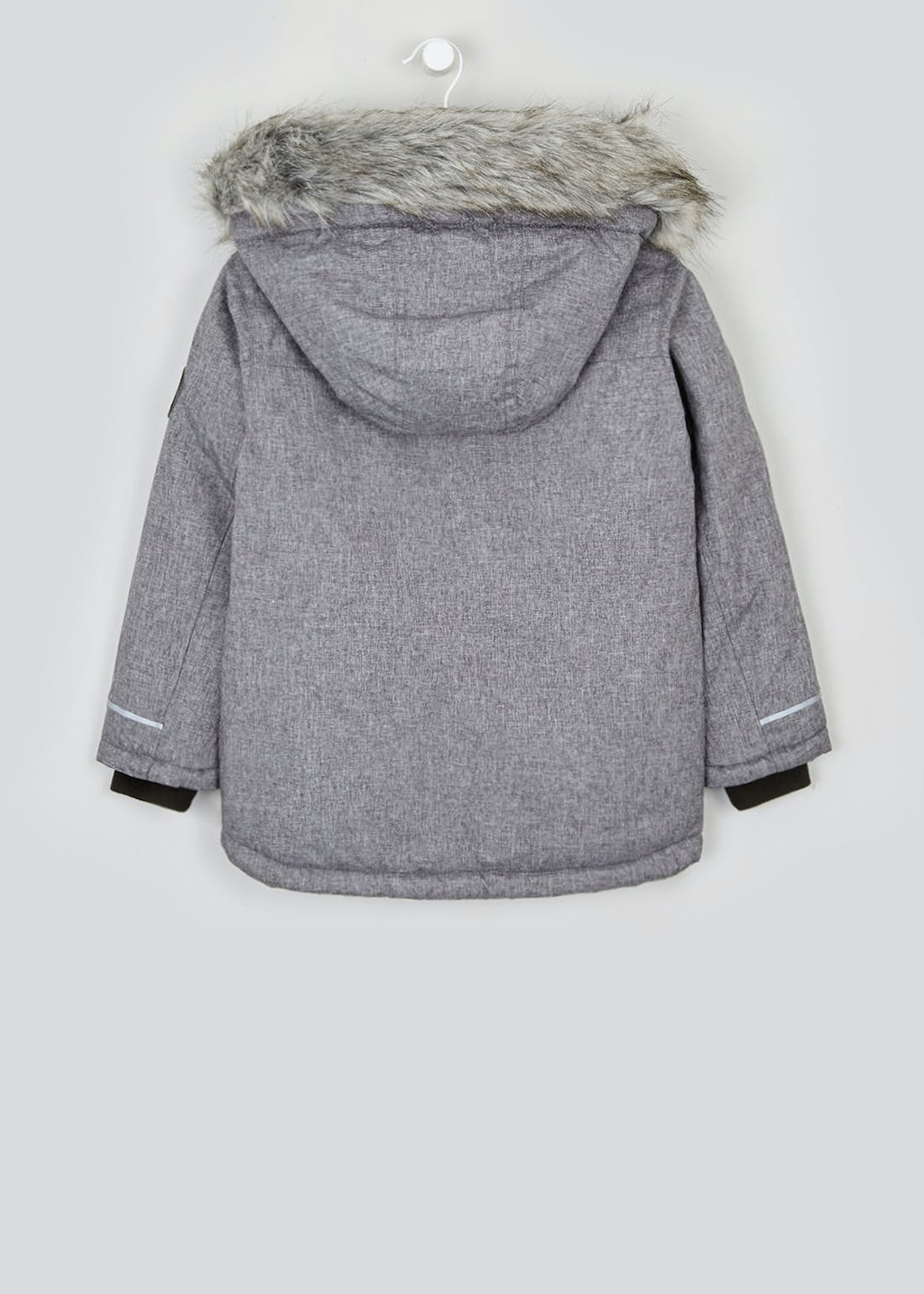 Boys Grey Hooded Parka Jacket (4-13yrs)